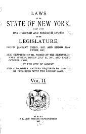 Laws of the State of New York: Volume 2