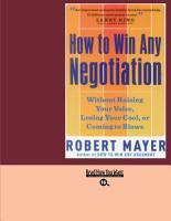 How to Win Any Negotiation PDF