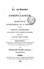Cursory remarks on corpulence; or Obesity considered as a disease