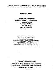 Welded Steel Wire Fabric for Concrete Reinforcement from Italy, Mexico, and Venezuela: Determinations of the Commission in Investigations Nos. 701-TA-261(A), 263(A), and 264(A) (preliminary) Under the Tariff Act of 1930, Together with the Information Obtained in the Investigations : Determinations of the Commission in Investigations Nos. 731-TA-289(A)-291(A) (preliminary) Under the Tariff Act of 1930, Together with the Information Obtained in the Investigations