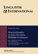 Anglizismen in deutschen Werbeanzeigen PDF