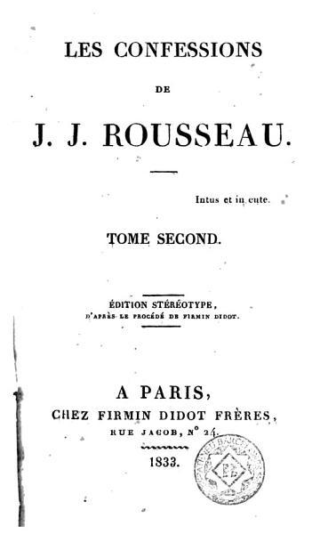 Les Confessions, 2