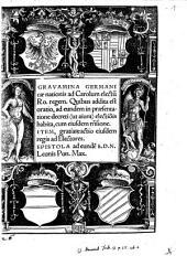 Gravamina Germanicae nationis ad Carolum, electum Roman. Regem