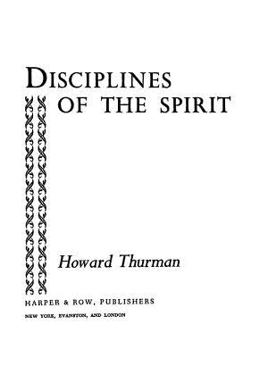 Disciplines of the Spirit PDF