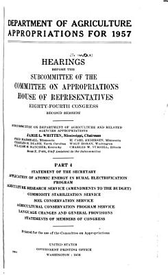 Department of Agriculture Appropriations for 1957