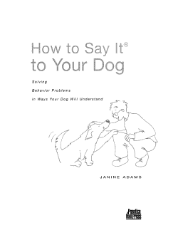 How to Say it to Your Dog PDF