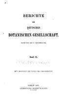 Berichte der Deutschen Botanischen Gesellschaft PDF