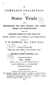 A Complete Collection of State Trials and Proceedings for High Treason and Other Crimes and Misdemeanors: From the Earliest Period to the Year 1783 : with Notes and Other Illustrations, Volume 23, Page 1817