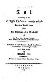 Tal i vuledning af den uti Kyrkotornet yppade wadeld den 12 August 1829