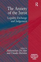 The Anxiety of the Jurist PDF