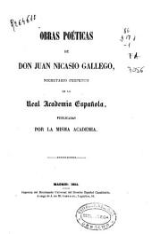 Obras poéticas de Don Juan Nicasio Gallego