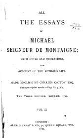 All the Essays of Michael Seigneur de Montaigne