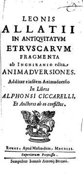 Animadversiones in Antiquitatum Etruscarum Fragmenta