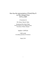 How has the representation of World War II on film changed from 1939 to 2009 PDF
