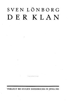 Der Klan    Jena  Diederichs 1921 PDF