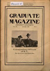 The Graduate Magazine of the University of Kansas: Volume 20