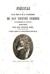 Fiestas que en el siglo IV de la canonización de San Vicente Ferrer se celebraron en Valencia