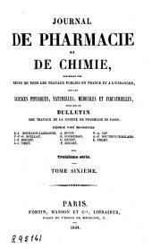 Journal de pharmacie et de chimie: Volume6;Volume1844