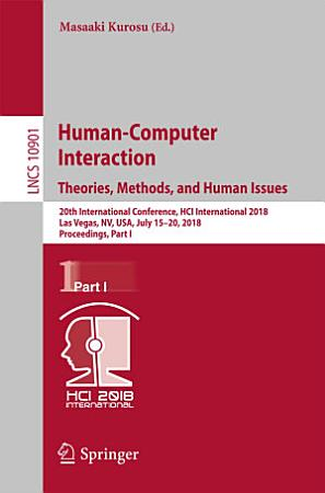 Human Computer Interaction  Theories  Methods  and Human Issues PDF