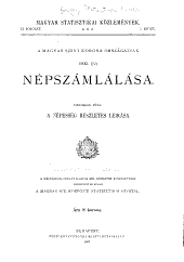 Magyar statisztikai közlemények: Új sorozat ..., Volume5