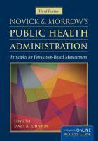 Novick   Morrow s Public Health Administration PDF