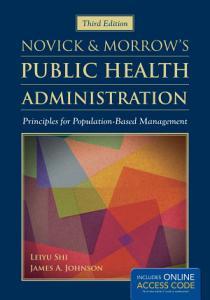 Novick   Morrow s Public Health Administration Book