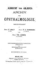 Archiv für klinische und experimentelle Ophthalmologie: Band 31,Ausgabe 2