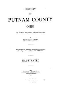 History of Putnam County  Ohio   its peoples  industries  and institutions PDF