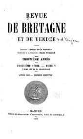 Revue de Bretagne, de Vendée et d'Anjou: Partie1