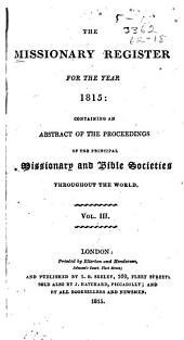 Missionary Register: Volume 3