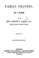 Family Prayers     Second edition PDF