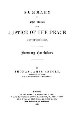 Summary of the Duties of a Justice of the Peace Out of Sessions PDF