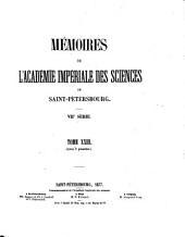 Mémoires de l'Académie impériale des sciences de Saint-Pétersbourg: Volume23