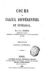 Cours de calcul différentiel et intégral: Calcul intégral. Tome second, Volume2