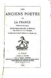 Les anciens poètes de la France: Volume8