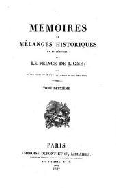 Mémoires et mélanges historiques et littéraires: Volume2