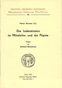 Die Judenmission im Mittelalter und die P  pste PDF