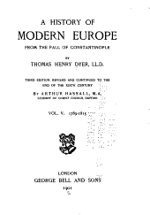A History of Modern Europe from the Fall of Constantinople: 1789-1815