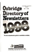 Oxbridge Directory of Newsletters PDF