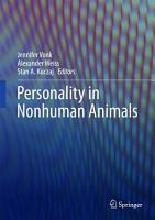 Personality in Nonhuman Animals PDF