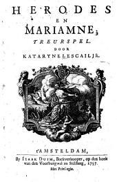 Herodes en Mariamne, Teurspel