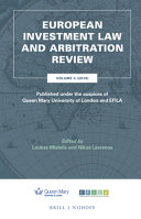 European Investment Law and Arbitration Review 2019