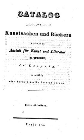 Rudolph Weigel s Kunstcatalog PDF