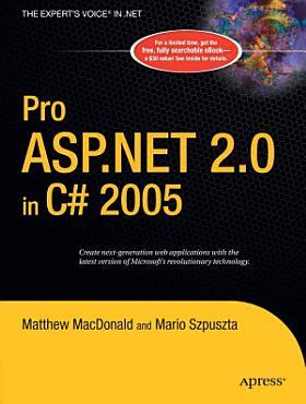 Pro ASP NET 2 0 in C  2005 PDF