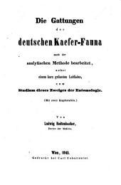 Die Gattungen der deutschen Kaefer-Fauna