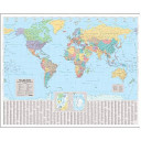 The Times World Wall Laminated Map
