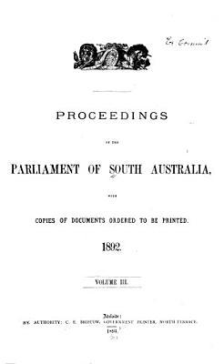 Proceedings of the Parliament of South Australia PDF