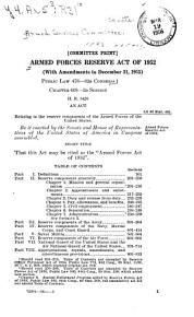 Armed Forces Reserve Act of 1952 PDF
