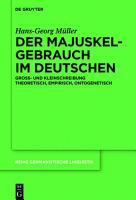 Der Majuskelgebrauch im Deutschen PDF