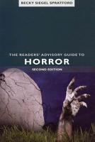 The Readers  Advisory Guide to Horror PDF